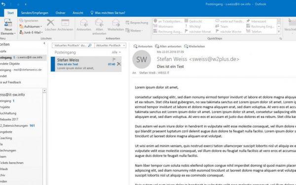 So bearbeiten Sie E-Mails im Posteingang von Outlook